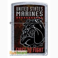 Зажигалка Zippo 207 USMC First To Fight