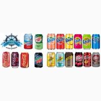 Газированные напитки США (Mountain Dew, Hawaiian Punch, Fanta и др.)