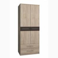 Шкаф распашной 2-х дверный ЛАНС-2 Дуб Сонома/вставка Венге