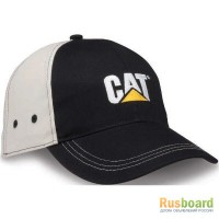 Бейсболка Caterpillar Ball Cap Black hat logo
