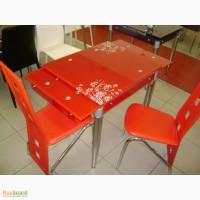 Продам стекклянные кухонные столы, журнальные столики и стулья