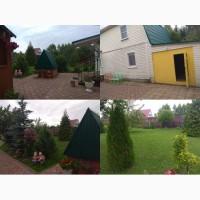 Жилой уютный дом 100 м2, гараж, баня на 15 сотках с садом возле реки. Пмж