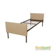 Кровати металлические с царгами и спинками ЛДСП, кровати для общежитий