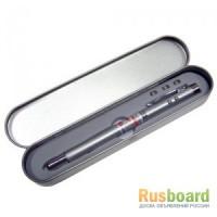 Ручка с выдвижной указкой с лазером, фонариком и магнитом в подарочной коробочке