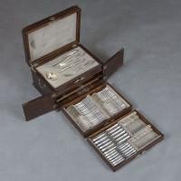 Антикварный шикарный набор столового серебра. 84 проба. На 12 персон. Российская империя