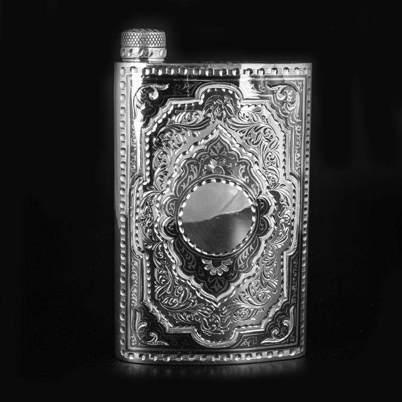 Фото 16. Серебряная фляга 875 пробы Кубачи ручная работа