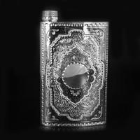 Серебряная фляга 875 пробы Кубачи ручная работа