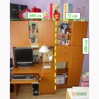 Мебель: компьютерный стол + антресоль, шкаф с полками
