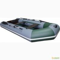 Лодка надувная двухместная ПВХ Альфа 30 слань книжка вклееный транец