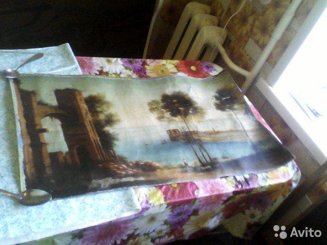 Фото 2. Картина маслом старая