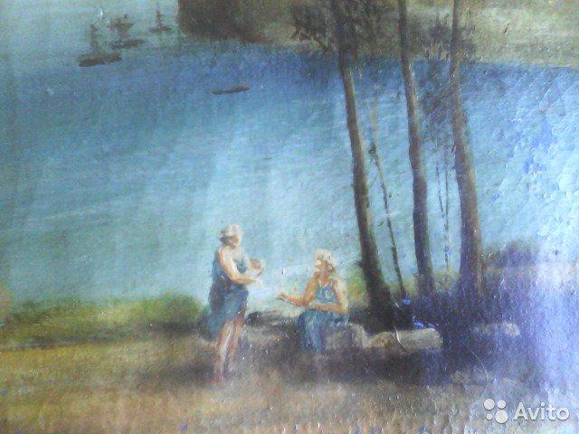 Фото 3. Картина маслом старая