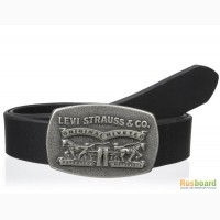 Ремень мужской Levis 40 mm 2 Horse Plaque (Black)