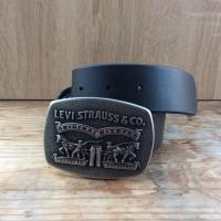 Ремень мужской Levis 40 mm 2 Horse Plaque (Black)