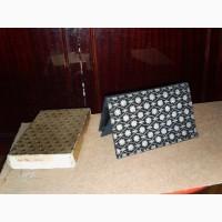 Черная бархатная сумочка-клатч, расшитая серебром со стразами. 50-60-е г.г