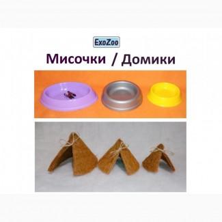 Домики и мисочки для террариума (для улиток Ахатина и Архахатина)