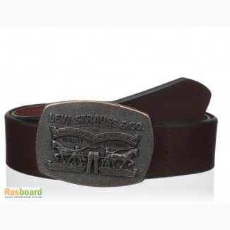Ремень мужской Levis 40 mm 2 Horse Plaque (Brown)