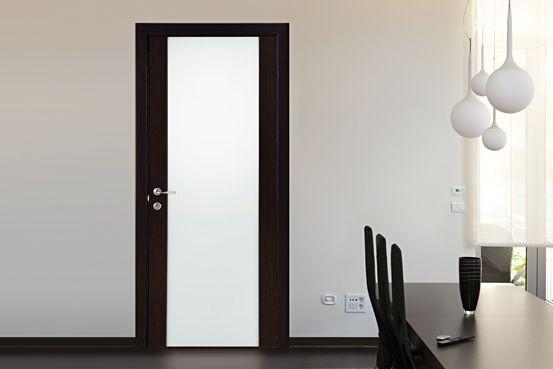 Дверь межкомнатная с матовым стеклом фото