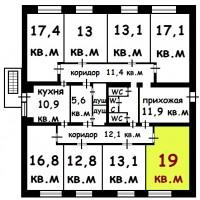 Комната 19 м² Санкт-Петербурге. Документы готовы