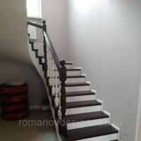 Деревянная лестница на бетон из кавказкого бука