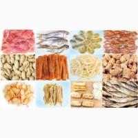 Сушеные морепродукты, вяленая, сушеная рыба, рыбные снеки, закуски к пиву оптом