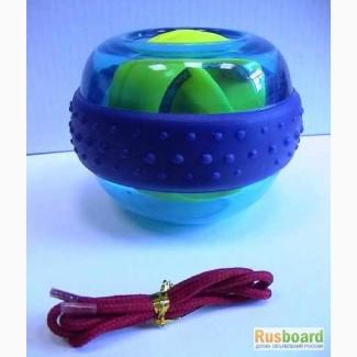 Гироскопический тренажер эспандер Волшебный шар с подсветкой хорош для здоровья и подарка