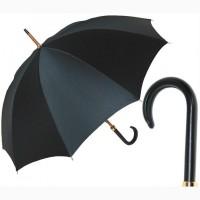 Зонт-трость с кожаной ручкой Guy de Jean SENIOR, Франция (арт. Сеньор)