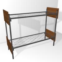 Кровать с металлической спинкой