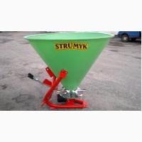 Разбрасыватель удобрений 300л механический, однодисковый, Strumyk