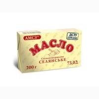 Масло сладкосливочное крестьянское АМСЗ 73, 0% упаковка 200 гр