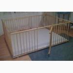 Большой детский деревянный манеж 1, 5х2, 0м с калиткой