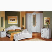 Белая спальня Орхидея Мебель-Неман
