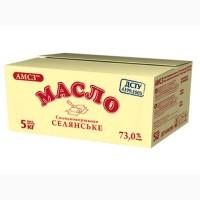 Масло сладкосливочное крестьянское АМСЗ 73, 0% брикет 5 кг