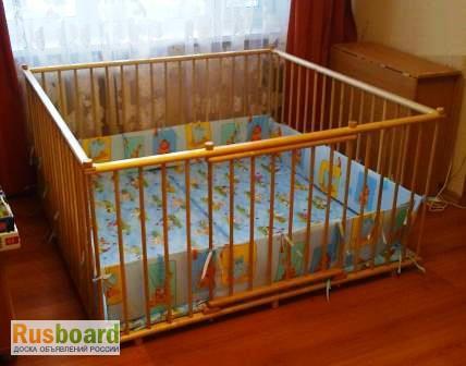 Фото 3. Большой детский деревянный манеж 1, 5х1, 5м с калиткой