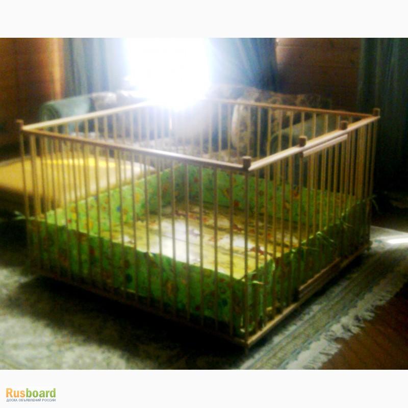 Фото 4. Большой детский деревянный манеж 1, 5х1, 5м с калиткой
