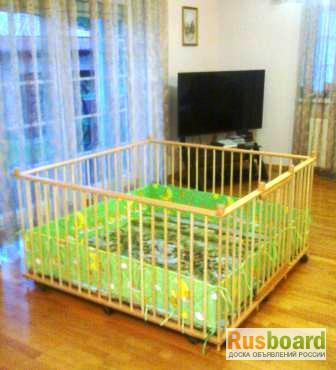Фото 5. Большой детский деревянный манеж 1, 5х1, 5м с калиткой