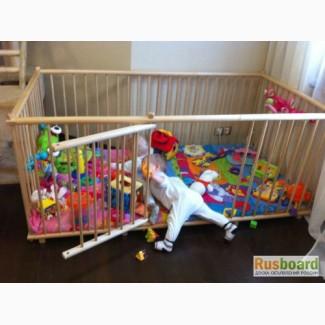 Манеж детский деревянный 1.1х1.8м отечественный на заказ для двойни