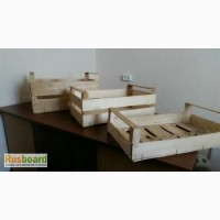 Крым.Деревянные ящики из шпона для упаковки фруктов и овощей